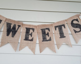 "Dessert Bar, wedding banner ""sweets""."