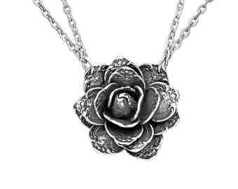 """Spoon Necklace: """"Rose Flower"""" by Silver Spoon Jewelry"""