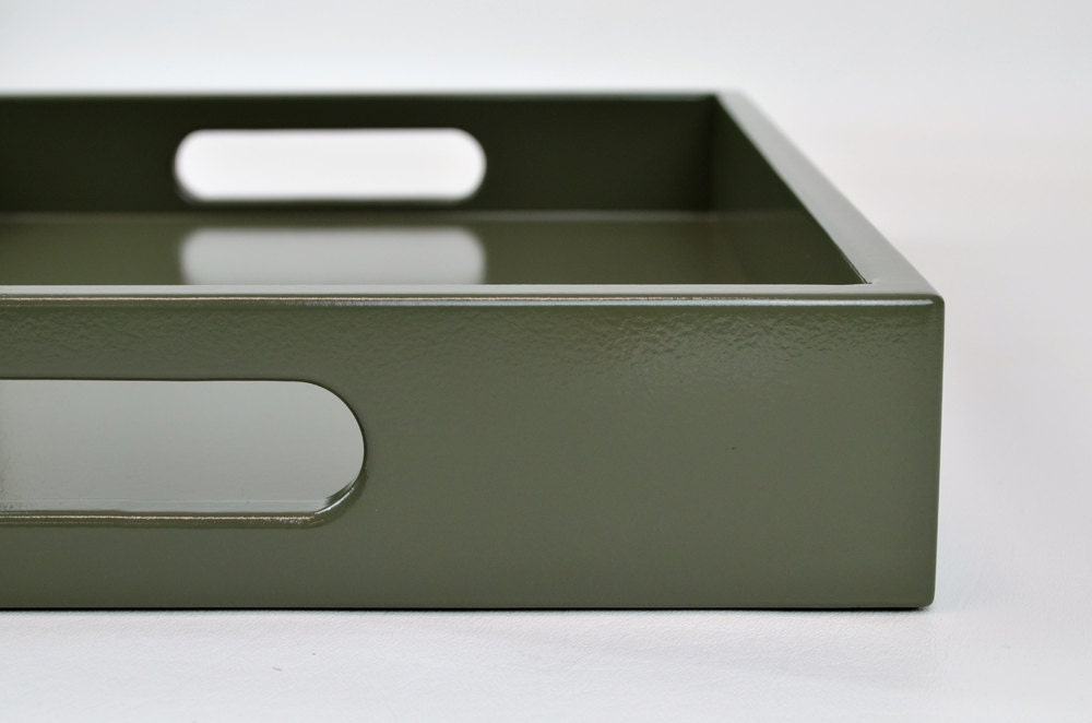 Lacquered Serving Tray 14 X 18 Coffee Table Tray With