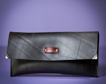 Inner tube Clutch Envelope // Handmade Rubber Clutch Envelope //