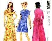 Sz 12/14/16 - McCalls Dress Pattern 8865 - Misses' Back Tie Dress in Three Variations