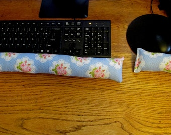 Blue Rose Wrist Rest, Keyboard Wrist Rest, Mouse Wrist Supports