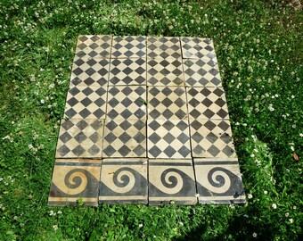 antique concrete tiles geometric floor decor