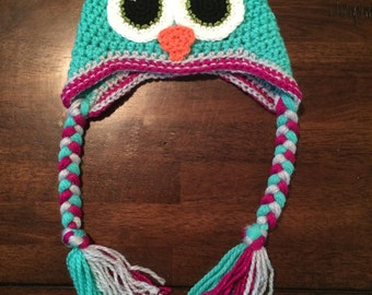 Owl Earflap Stocking Cap