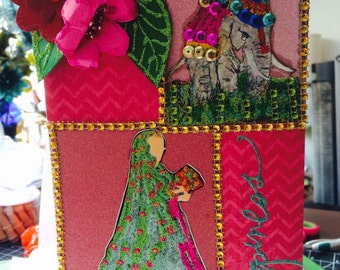 OOAK, Gorgeous, Exotic, Asian Indian wedding themed card