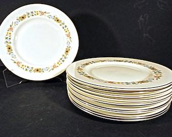 "Royal Doulton Pastorale 8"" Plates Vintage Bone China Set of 10"