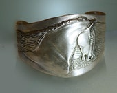 Andalusian Stallion cuff bracelet in pewter