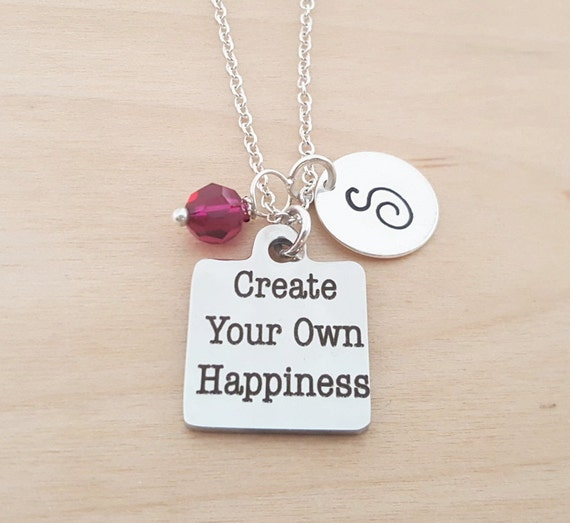 Design Make Your Own Jewellery: Create Your Own Happiness Necklace Initial Necklace
