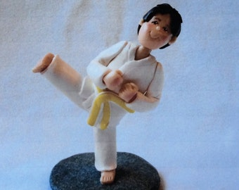 Deposit Only!!  A Single Figure Clay Cake Topper, Figurine