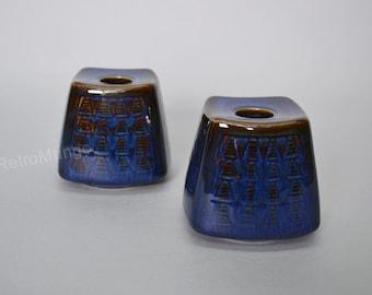 Set of 2 Soholm Stentoj  Bornholm  Denmark ceramic  candle holders - Einar Johansen