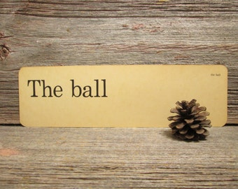 Vintage Flash Card The Ball