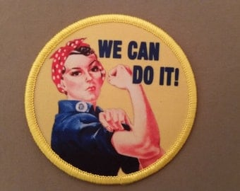 we can do it rosie the riveter patch