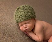 Newborn {Classic Cables} Knit Beanie, Newborn Photography Prop, Several Color Options