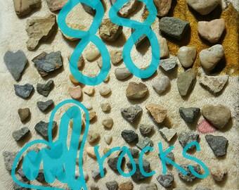 88 Heart Rocks