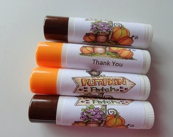 20 Lip Balm Party Favors, Pumpkins, Showers, Special Occasions