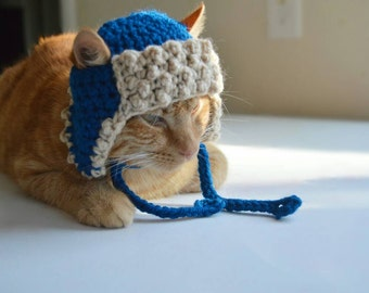 Winter Hat for Cats, Winter Cat Hat, Bomber Cat Hat, Bomber Hat for Cat, Trapper Hat for Cats, Trapper Cat Hat