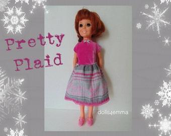 SALE = Vintage Ideal CRISSY Doll CLOTHES Holiday Babydoll Dress - Handmade Custom Fashion - by dolls4emma