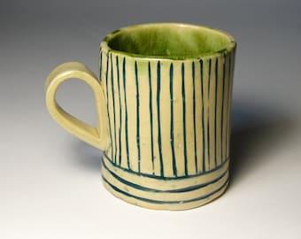 ceramic coffee mug hand formed cup, blue tableware, hand built drikware, personalized, custom, gift idea for mom, housewarming