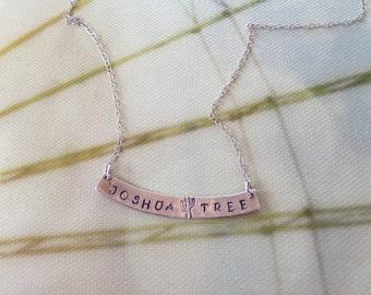 Joshua Tree Necklace, Joshua Tree National Park, Joshua Tree Jewelry, Sterling Silver Joshua Tree Necklace