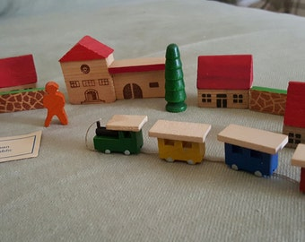 Vintage Wooden Villiage Made in East Germany Pieces Made In German Democratic Republic