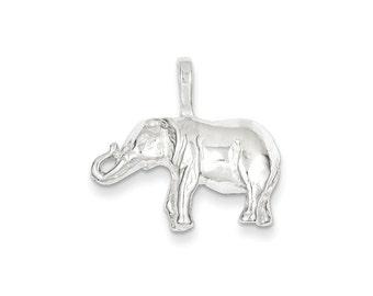 Elephant Charm Sterling Silver pendant .925