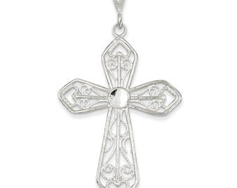 Sterling Silver Passion Cross Pendant