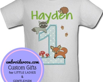 Woodland Creatures! Birthday Shirt or Onesie