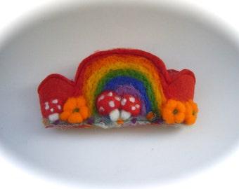 Felted Crown.Waldorf.Bithday.Rainbow.