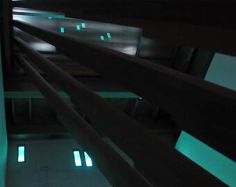 Streaming Green. The Contemporary Art Musuem, Austin, TX Light Green Geometric Modern Abstract Print 8x10