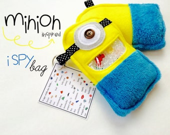 Minions Ispy bag *Educational Childrens toy -ispy *Look and Find *Minion Party *Gender Neutral