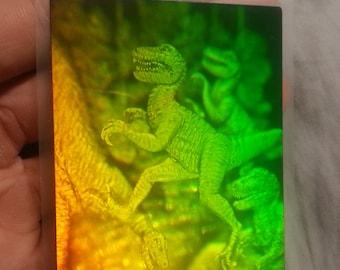 Velociraptor Dinosaur Hologram sticker