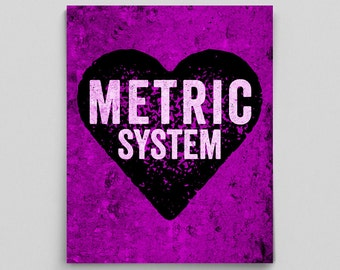 Metric System Poster Science Print Gift Teacher Gifts for Teachers Science Classroom Poster Lab Poster Mathematics Poster Math Print Gifts