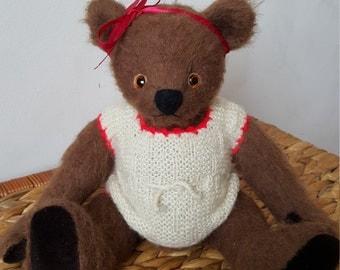 Artist teddy bear, Teddy bear - 31 cm / 12 inch, artist mohair bear, OOAK teddy bear, handmade teddy bear