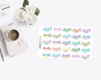 Family Time Rainbow Stickers