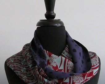 Light weight Silk Georgette Infinity Scarf