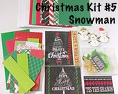 DIY Christmas Card Making Kit #5 - Snowman Themed, Kid's Card Making Kit, Activity Kit For Kids, Craft Kits for Kids, Kid's Christmas Kits