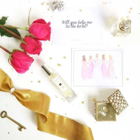 bridesmaid card, bride card, wedding card, wedding invite, bridesmaid invite, bridesmaid gift, bridesmaid invitation, gifts for her