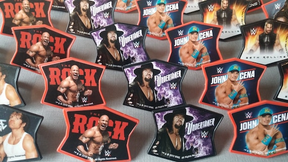 24 WWE Cupcake Rings Toppers Cake Picks For Your Themed Birthday Party Favor Goodie Bags Rock John Cena Dean Ambrose Roman Reigns Rollins From