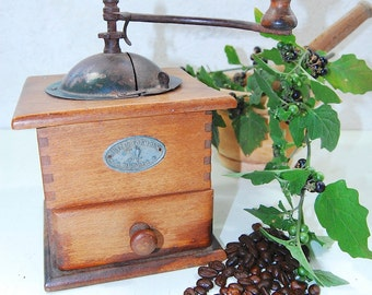French Antique 'Mutzig Framont' Coffee Grinder / Coffee Mill