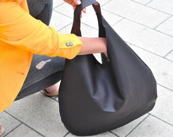 Chocolate brown bag, Leather hobo bag, oversize bag, Shopping bag, Laptop bag, Handbag, Everyday bag, Large bag, Slouchybag, shoulder bag