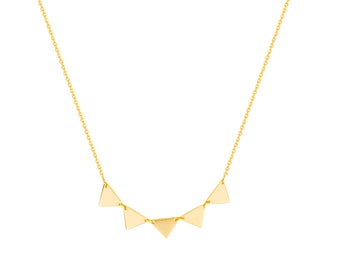 14k Gold Multiple Spike/ Triangle Necklace