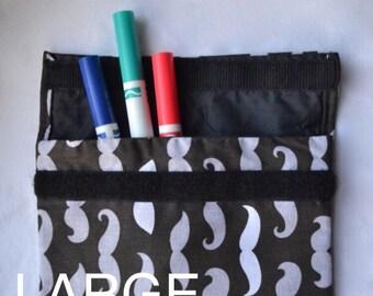 Reusable Snack Bag, Reusable Sandwich Bag, Reusable Baggie, Eco Snack Bag, Reusable Lunch Bag, Large Snack Bag, Mustache Bag
