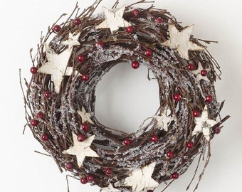 Twig and Berry snow Wreath Christmas or home decoration