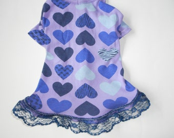 Extra small/Small Hearts pet  DRESS