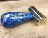 Brass hammer with burl handle, handmade one of a kind