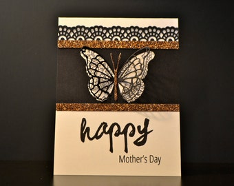 Mother's Day Card, Mother's Day Greeting, Butterfly Card