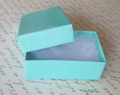 "10 Teal Cotton Filled Jewelry Gift Boxes 2 1/2""x1 1/2"""