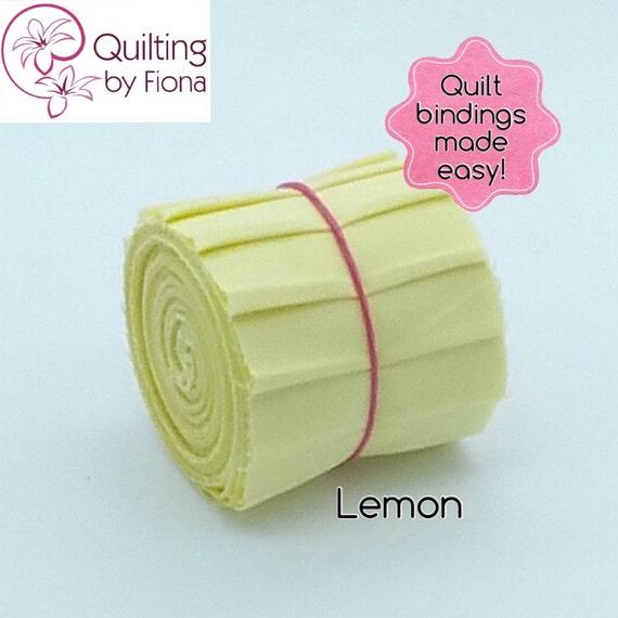 Lemon Yellow PreCut Quilt Binding Fabric Strips 2.25 Inch