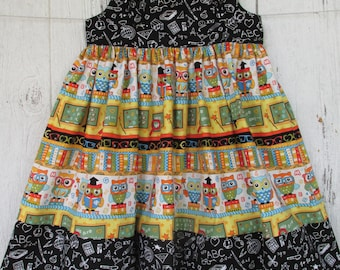 Girls Back To School Dress  1st Day of School Knot Jumper