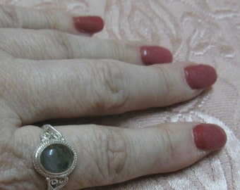 Labradorite Sterling Silver Ring Size 11 1/2 and 11 3/4